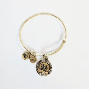 Alex and Ani Gold Claddagh Charm Bracelet